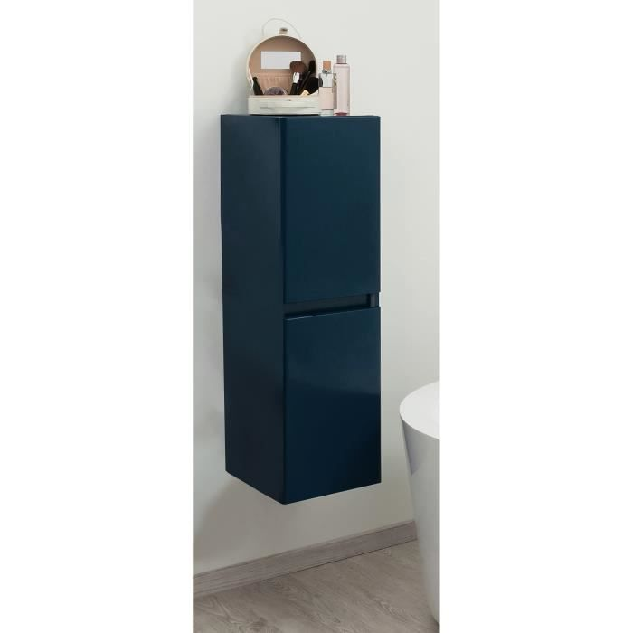 bely colonne de salle de bain en bois 30 cm bleu achat. Black Bedroom Furniture Sets. Home Design Ideas