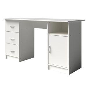 BUREAU  ESSENTIELLE Bureau classique blanc - L 135 cm