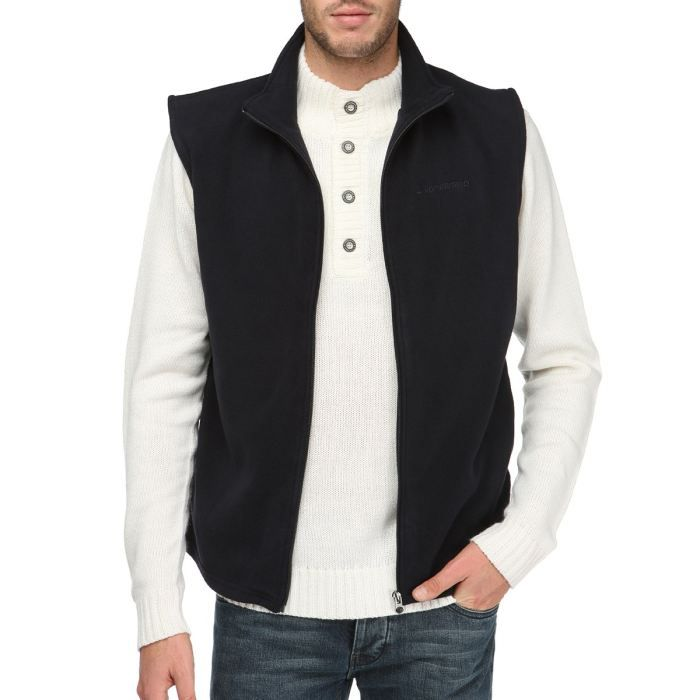 longboard gilet polaire sans manche homme marine achat vente gilet cardigan longboard. Black Bedroom Furniture Sets. Home Design Ideas