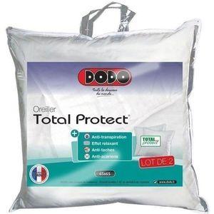OREILLER DODO Lot de 2 oreillers Total Protect 65x65 cm bla