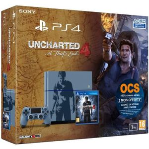 CONSOLE PS4 PS4 Edition Limitée + Uncharted 4: A Thief's End