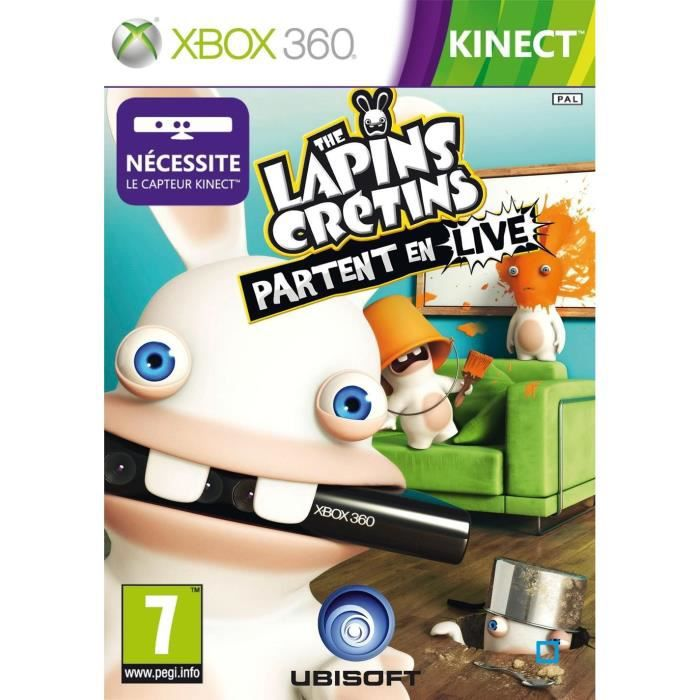 the lapins cretins partent en live kinect xbox360 achat vente jeux xbox 360 the lapins. Black Bedroom Furniture Sets. Home Design Ideas