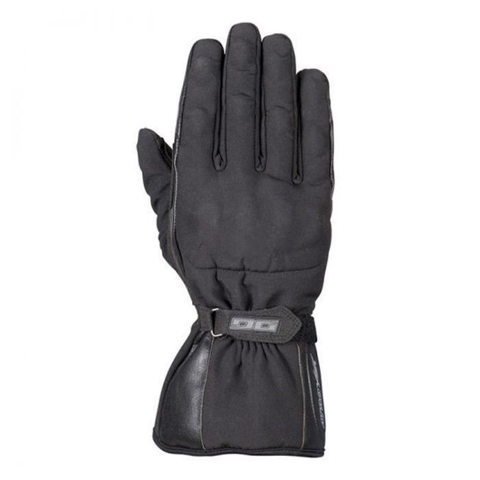 A de Pro Textile Gants en cuir /étanche /Épaisseur Rembourrage Roller de moto Noir L