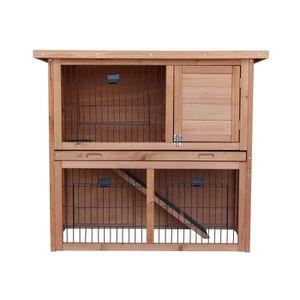 CLAPIER Clapier en bois pour lapin Diego 92x45x81 cm - Pou