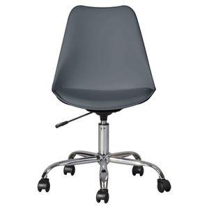 CHAISE DE BUREAU BLOKHUS Chaise de bureau - Simili gris - Style con