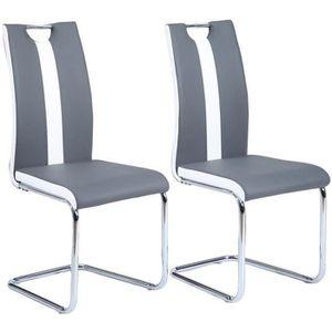 CHAISE JADE Lot de 2 chaises de salle à manger - Simili g