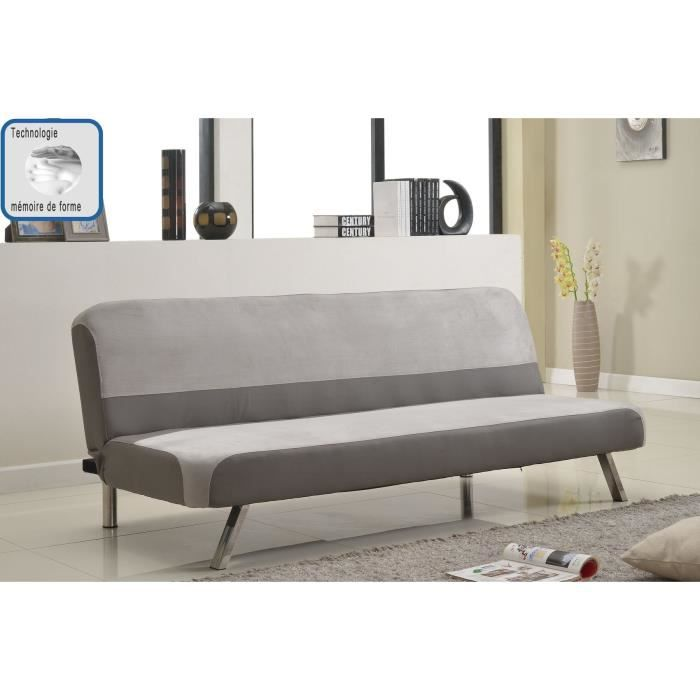 marbre banquette convertible lit m moire de forme 3 places gris achat vente banquette. Black Bedroom Furniture Sets. Home Design Ideas