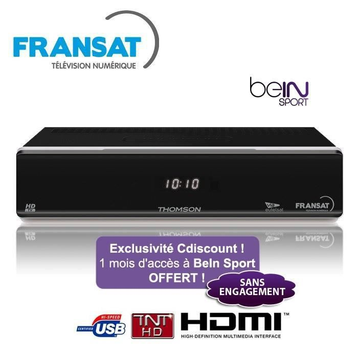 thomson ths803 d codeur r cepteur satellite fransat hd bein sport r cepteur d codeur. Black Bedroom Furniture Sets. Home Design Ideas