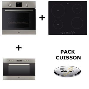 LOT APPAREIL CUISSON WHIRLPOOL - PACK CUISSON : Four pyrolyse + table d