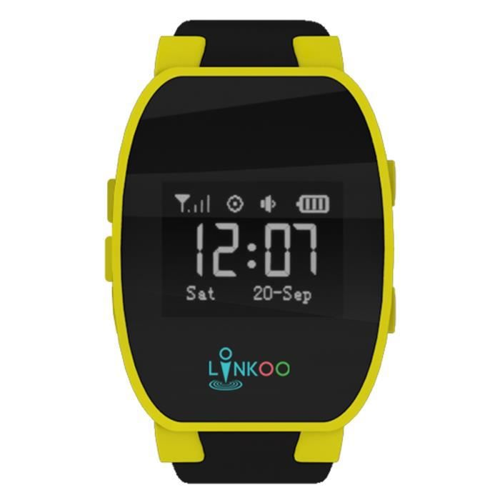smartwatch linkoo montre connect e trackker enfant jaune montre connectee avis et prix pas. Black Bedroom Furniture Sets. Home Design Ideas