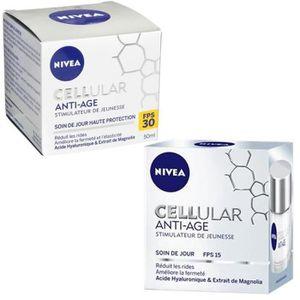 COFFRET CADEAU CORPS Lot Cellular Anti-âge Jour FPS15 50 ml + Anti-âge