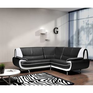 CANAPÉ - SOFA - DIVAN SPACIO Canapé d'angle fixe simili 4 places - 143x1