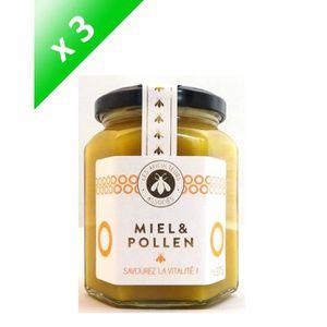 MIEL APICULTEURS ASSOCIES Miel et pollen - 375 g x 3