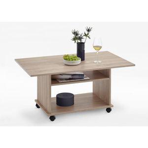 TABLE BASSE Table basse AZUR - Contemporain - Décor chêne - L