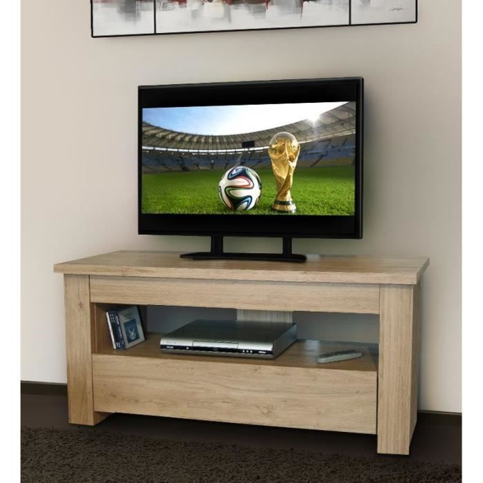 Meuble tv 110 cm for Meuble tv gris 110 cm