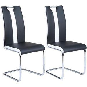 CHAISE JADE Lot de 2 chaises de salle à manger - Simili n
