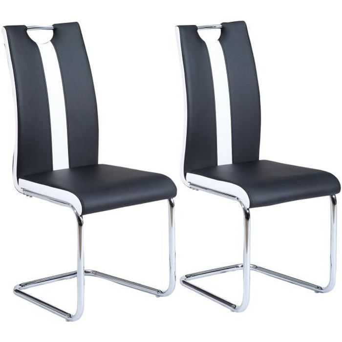 jade lot de 2 chaises de salle manger noires achat. Black Bedroom Furniture Sets. Home Design Ideas