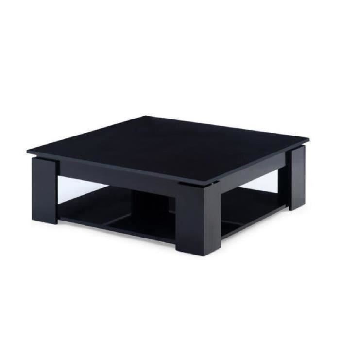 Manhattan table basse carr e noir achat vente table - Table basse carree grise ...
