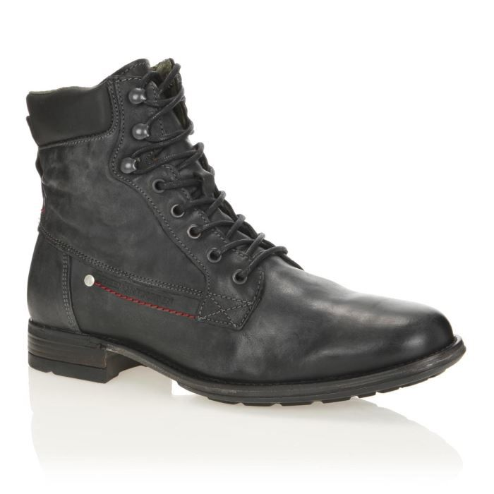 Freeman t porter bottines cuir sage homme homme noir for Bottines freeman t porter