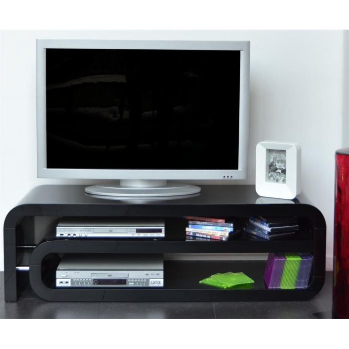 meuble tv laque noir pas cher. Black Bedroom Furniture Sets. Home Design Ideas
