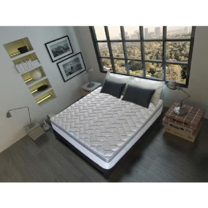 olympe literie matelas sommier 140x200 mousse hd 28kg m3 m moire de forme 60kg m3 ergosoft. Black Bedroom Furniture Sets. Home Design Ideas
