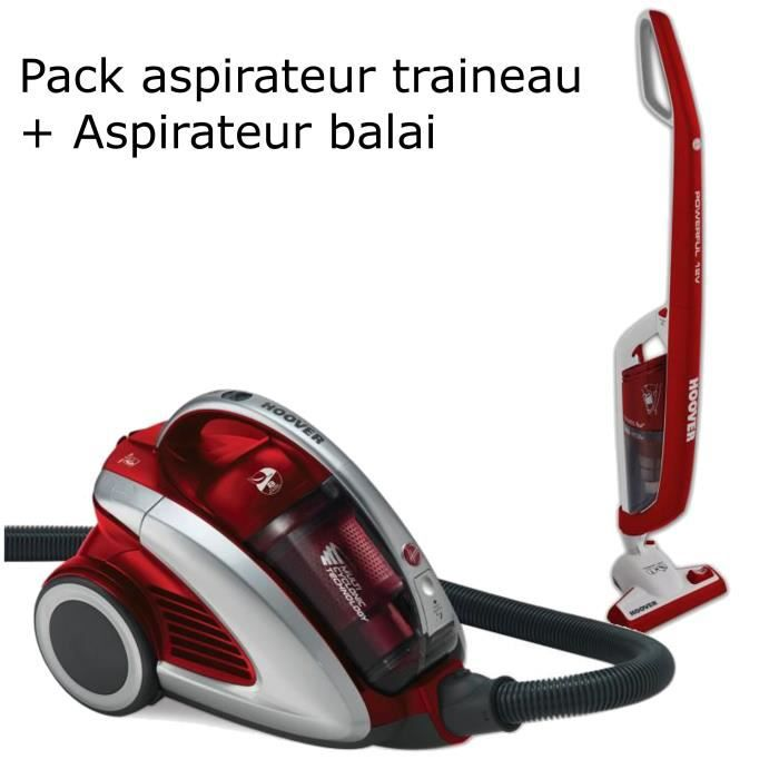 pack aspirateur sans sac aspirateur balai hoover achat vente aspirateur traineau cdiscount. Black Bedroom Furniture Sets. Home Design Ideas