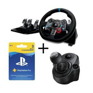 VOLANT JEUX VIDÉO Pack Logitech volant G29 pour PC et PS4 + Shifter