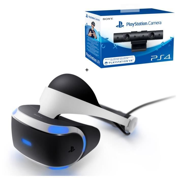 playstation vr playstation cam ra achat vente casque. Black Bedroom Furniture Sets. Home Design Ideas