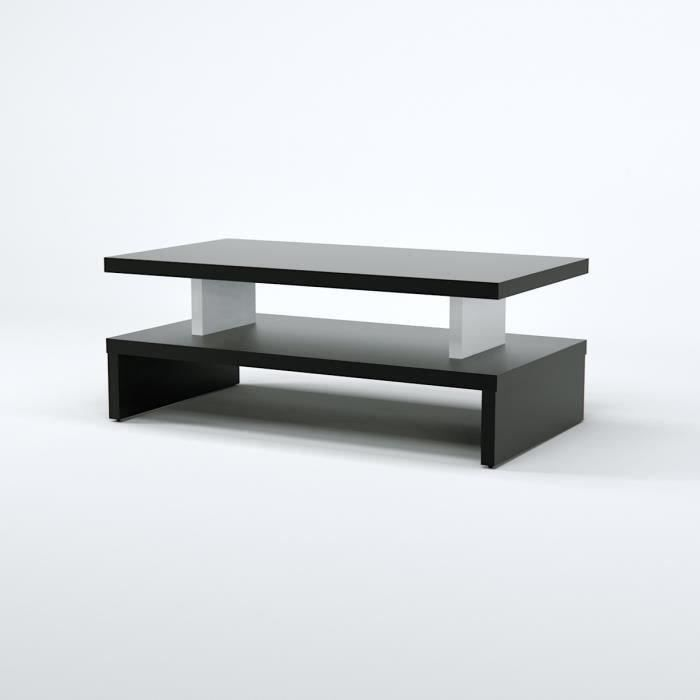 After table basse 97 cm d cor noir achat vente table - Table basse noir et rouge ...