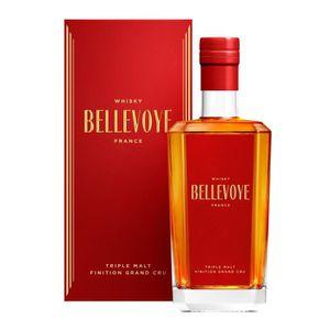 WHISKY BOURBON SCOTCH Bellevoye - Triple Malt Français - Whisky - Rouge
