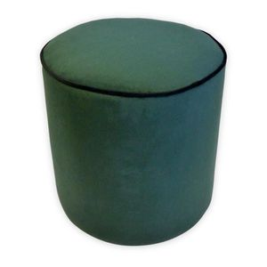 POUF - POIRE Pouf rond velours William - 35 x 35 cm - Vert émer