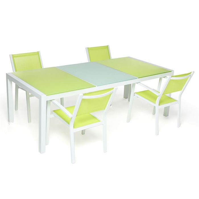 bora table 6 chaises vert achat vente salon de jardin bora table 6 chaises vert cdiscount. Black Bedroom Furniture Sets. Home Design Ideas