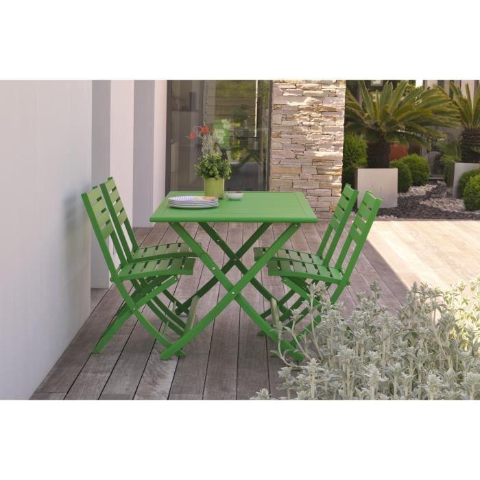 ALUMOB Table de jardin pliante Marius en aluminium 140x80x73 ...