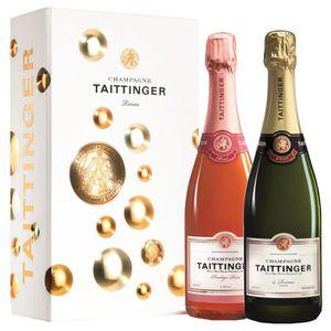 CHAMPAGNE Champagne Taittinger Brut Reserve et Prestige Rose