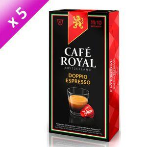 CAFÉ Lot de 50 capsules Café Royal Doppio Espresso Caps