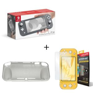 CONSOLE NINTENDO SWITCH Pack Switch Lite Grise + Housse Silicone Switch Li
