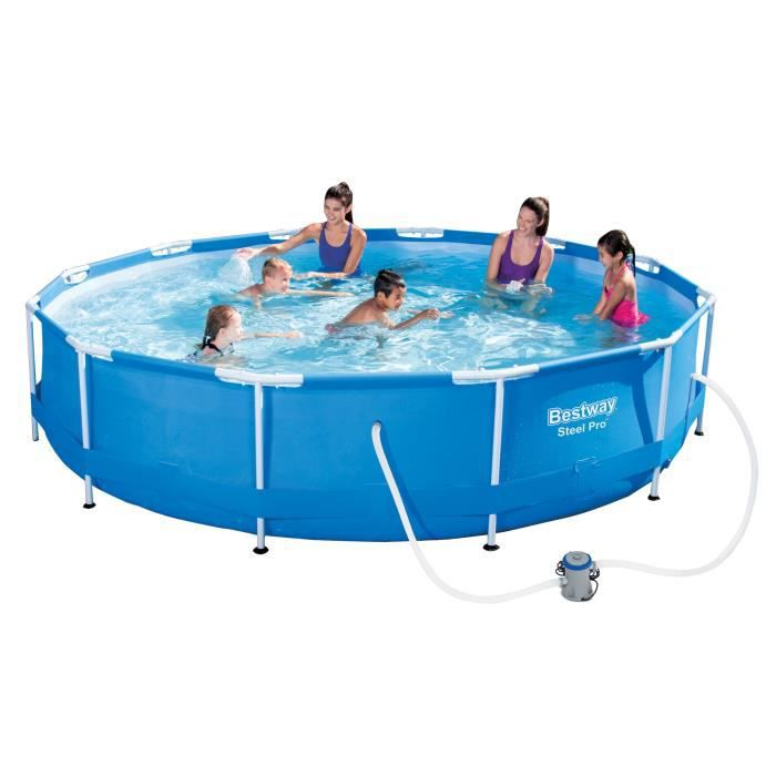 Bestway piscine tubulaire ronde 3 66x1 m bleue achat for Piscine tubulaire bestway