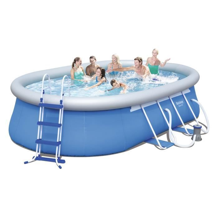bestway kit piscine autoportante ovale 4 88x3 05x1 07 m