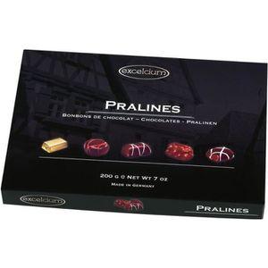 CONFISERIE DE CHOCOLAT EXCELCIUM - Assortiment de chocolats Pralinés 200g
