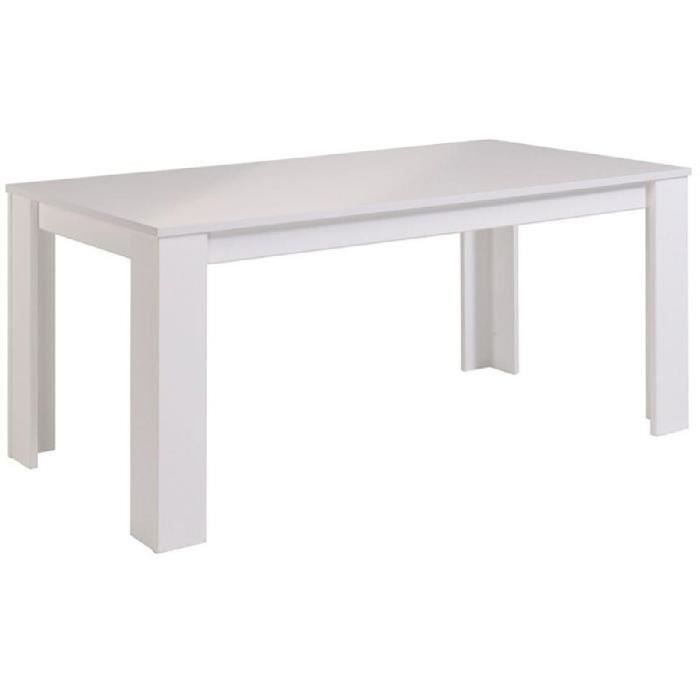 street table manger 6 personnes 170x88 cm blanc brillant achat vente table a manger. Black Bedroom Furniture Sets. Home Design Ideas