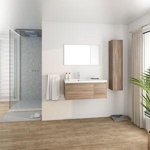 SALLE DE BAIN COMPLETE GIRONA Salle de bain complète simple vasque L 90 c