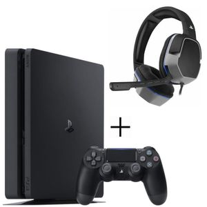 CONSOLE PS4 PS4 500 Go Noire + Casque Afterglow Level 3