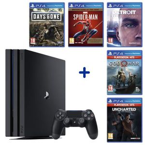 CONSOLE PS4 PS4 Pro 1To Noire + Days Gone + Detroit Become Hum