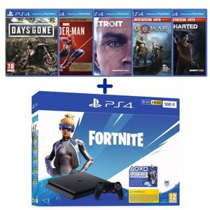 CONSOLE PS4 PS4 Slim 500 Go Noire + Days Gone + Detroit Become