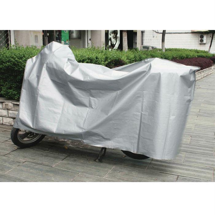 anti-UV XXL B/âche imperm/éable pour moto 190T anti-poussi/ère - Noir 245 x 105 x 125 cm anti-pluie