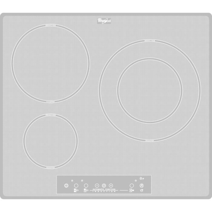 whirlpool acm680newh table de cuisson induction 3 zones blanche achat vente plaque. Black Bedroom Furniture Sets. Home Design Ideas