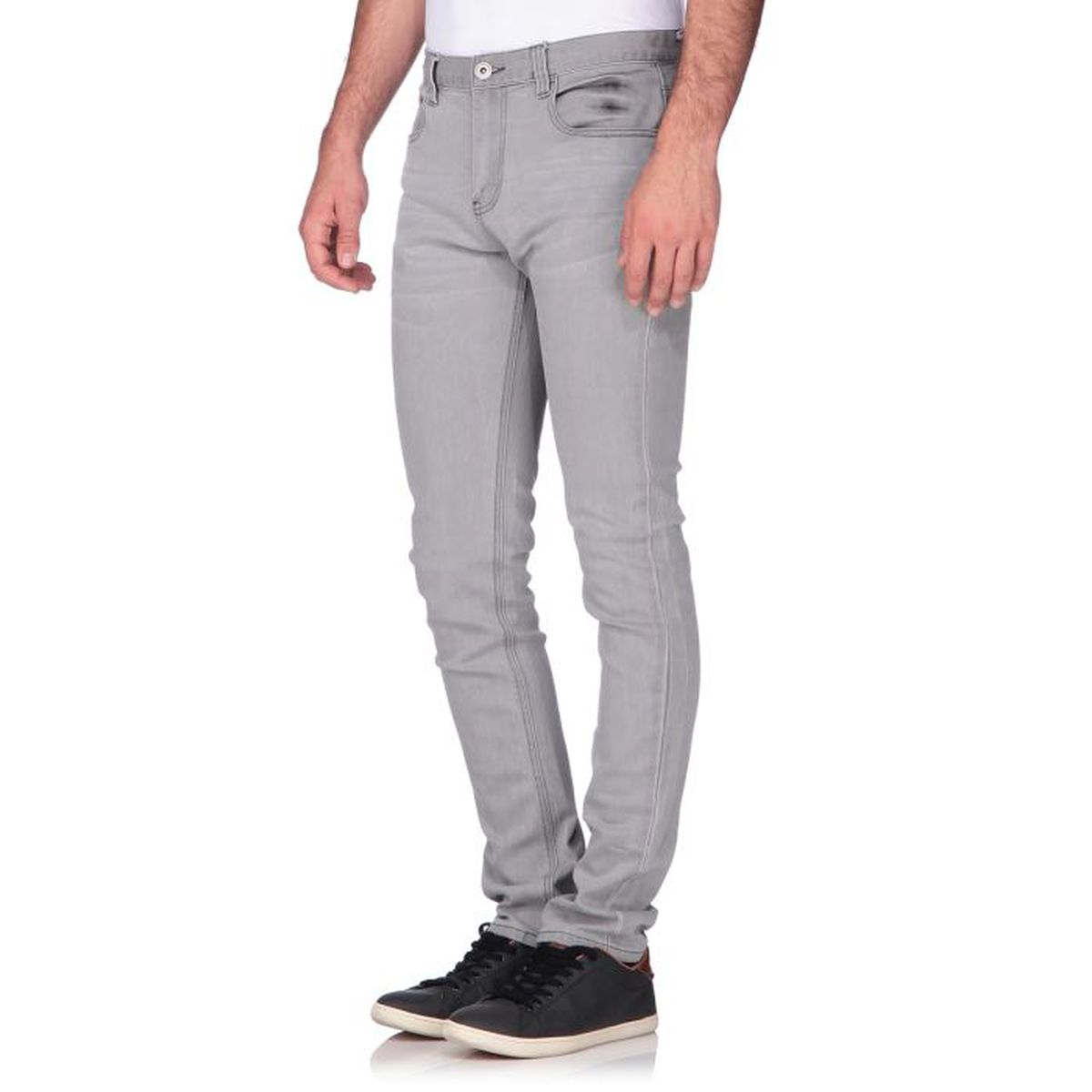 custer jean skinny homme gris achat vente jeans custer. Black Bedroom Furniture Sets. Home Design Ideas