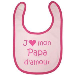 Bbco Bavoir Jaime Mon Papa Damour Rose Et Fushia