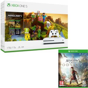 CONSOLE XBOX ONE Xbox One S 1  To Minecraft Creators + Assassin's C