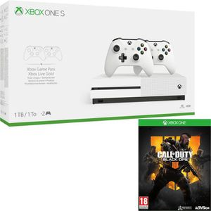 CONSOLE XBOX ONE Xbox One S 1 To + 2 manettes + Call of Duty Black